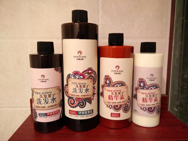 印度云梳头发果子洗发水精华素大包装上市图片