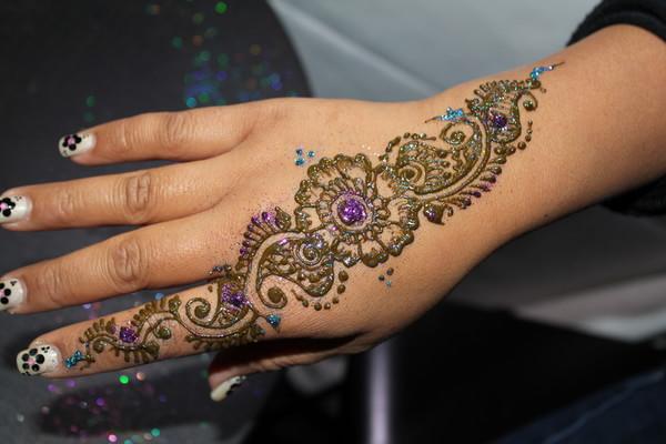 实地体验,印度海娜手绘艺术