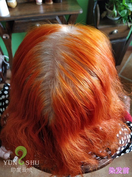 新疆海娜粉染发后褪色